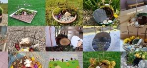Alcune delle foto dei giardini preparati dai ragazzi del catechismo