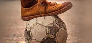 Piede su un pallone